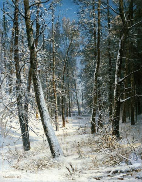 иван шишкин Зима в лесу. Иней 1877.jpg (468x600, 76Kb)