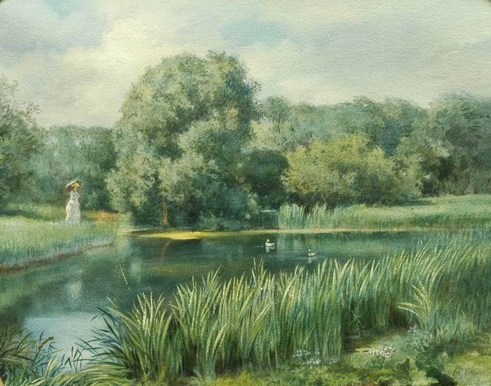 алексей стрелковский девушка в парке 1882 г.jpg (700x551, 90Kb)