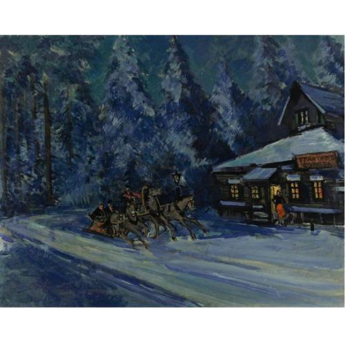 К.А.Коровин 1861-1939 Катание на санях зимой..jpg (500x500, 33Kb)