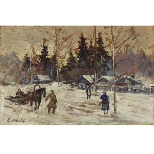 К.Коровин 1861-1939 Катание на санях по деревне.jpg (500x500, 35Kb)
