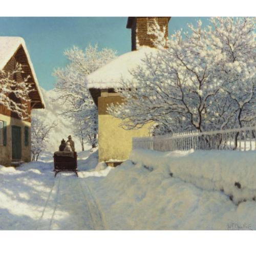 И.Ф.Шульце 1877-1932 зимний пейзаж с санями.jpg (500x500, 37Kb)