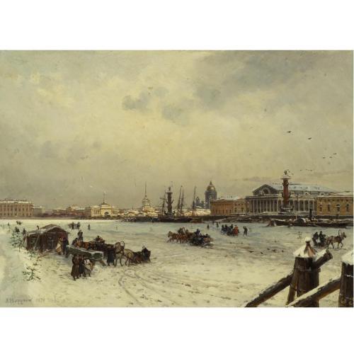 А.К.Беггров 1841-1914 Санкт-Петербург  зимой 1878.jpg (500x500, 26Kb)