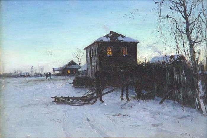 Клодт Николай Александрович 1865-1918. Зимой в деревне 1894.jpg (699x468, 37Kb)
