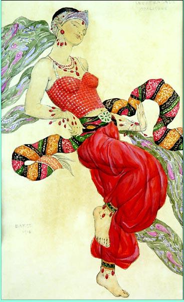 Лев Бакст Одалиска ,1910 Эскиз костюма к балету Н А Римского-Корсакова  Шахерезада.jpg (367x600, 56Kb)