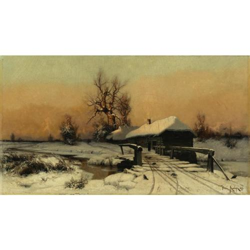 Ю.Ю.Клевер 1850-1924. Дом зимой.jpg (500x500, 23Kb)