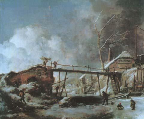 Вауверман Филипс1619-1668 зимний пейзаж.jpg (480x395, 45Kb)
