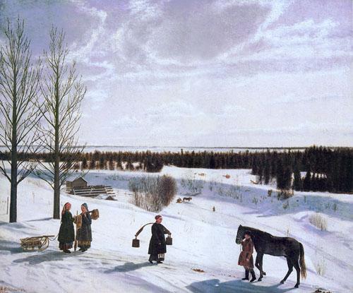 Никифор Степанович Крылов Зимний пейзаж 1827.jpg (500x415, 67Kb)
