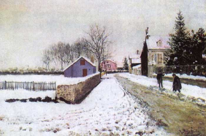 похитонов иван павлович 1850 - 1923 Снег в По. 1890-е.jpg (700x464, 34Kb)