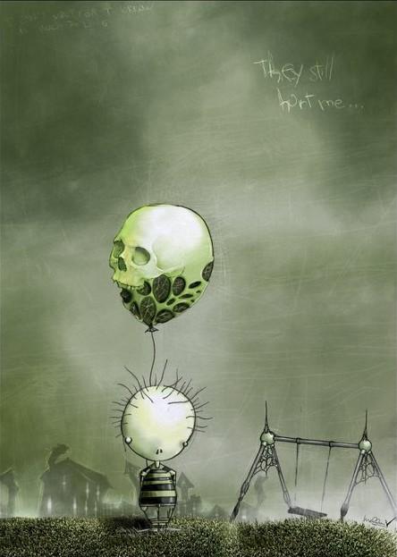 малыш и  шарик...  череп.jpg (444x623, 57Kb)