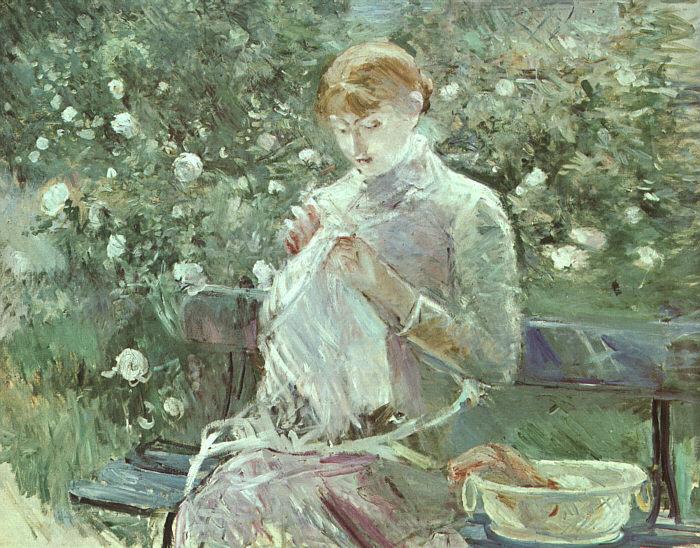 берта моризо женщина вышивающая в саду 1881.jpg (700x548, 138Kb)