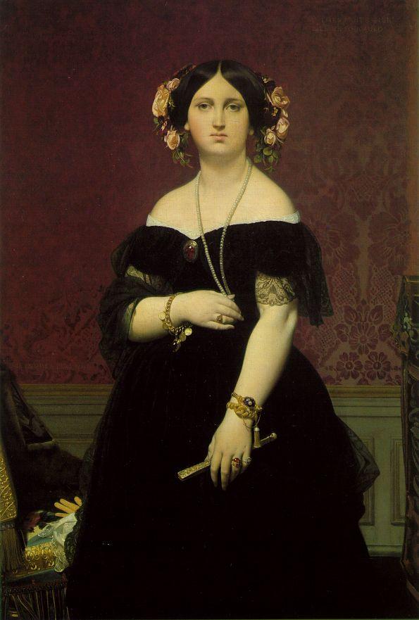 1851 Marie-Clothilde-Ines de Foucauld, Madame Moitessier Энгр.jpg (595x881, 59Kb)
