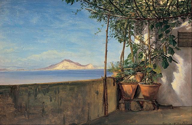 Thomas Fearnley 1802-1842 норвег. Терасса в Просида,  Италия 1833.jpg (640x419, 61Kb)