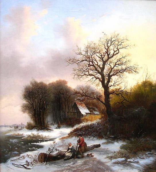 Алексис де Лев «Зимний пейзаж» 1852.jpg (543x600, 53Kb)