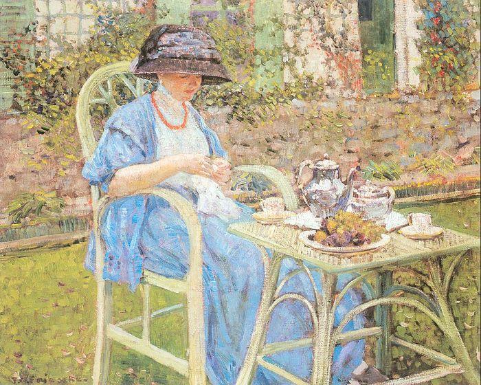 Фредерик Карл Фрисек завтрак в саду, Живерни.jpg (700x560, 130Kb)