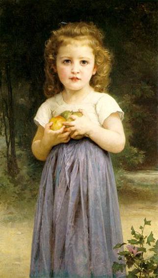 Fillette tenant des pommes. бугро 1895.jpg (322x567, 29Kb)