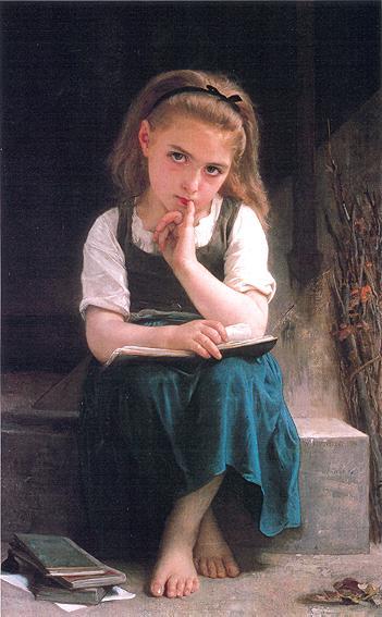 La leçon difficile. бугро 1880.jpg (351x567, 34Kb)