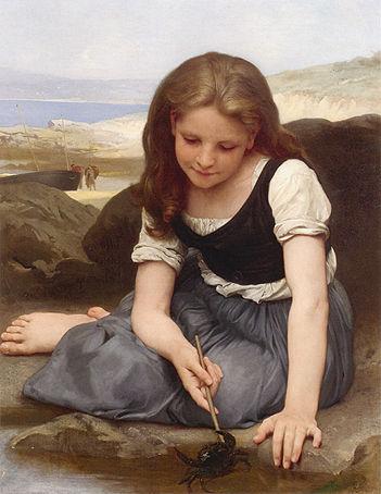 девочка с крабом 1869 бугро.jpg (351x454, 36Kb)