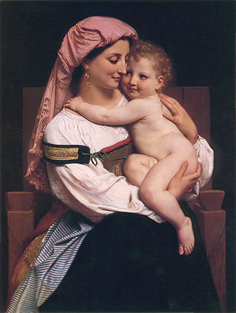 Femme de Cervera et son enfant. 1861 бугро.jpg (342x454, 35Kb)