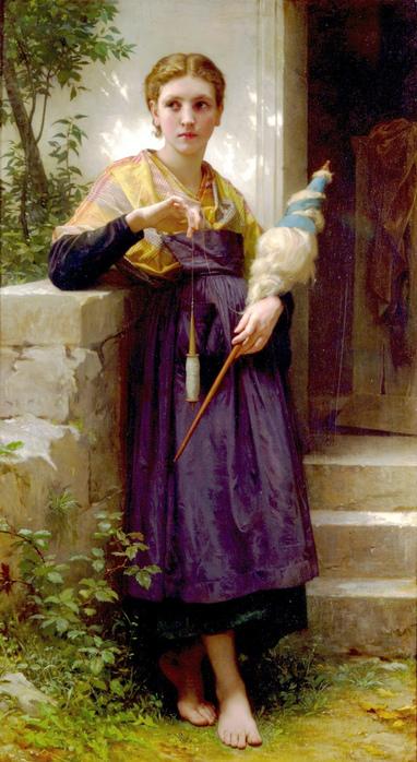 Девушка с пряжей  Бугро 1873.jpg (382x698, 202Kb)