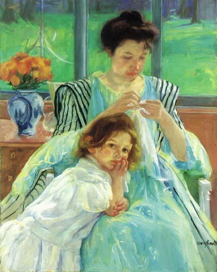 Молодая мама Кэссэт Мэри 1900.jpg (448x560, 46Kb)