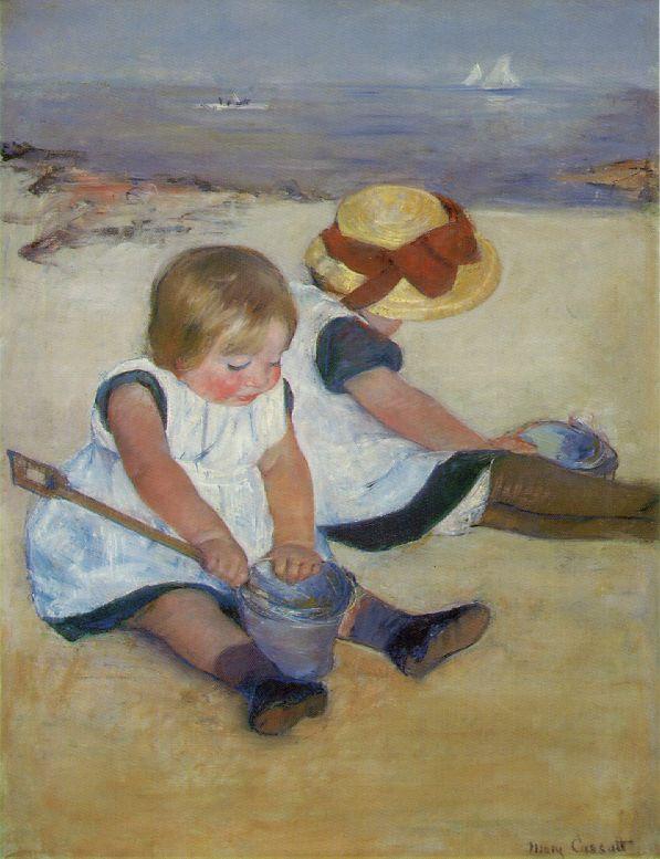 кассат дети на берегу 1884.jpg (597x777, 67Kb)