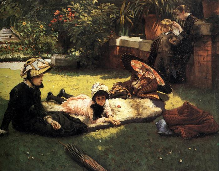 Джеймс Жак Жозеф Тиссот 1836-1902 На солнце 1881.jpg (699x546, 210Kb)