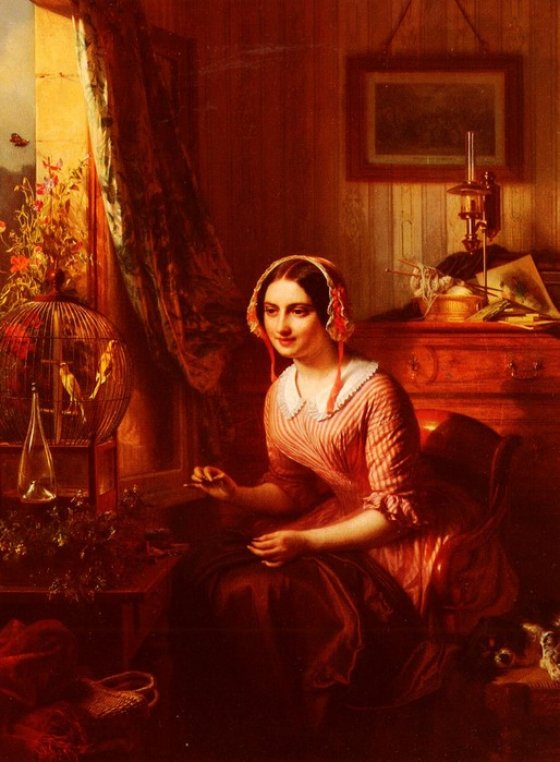 Ранний час 1849 Джозефус Лаврентиус Дикманс 1811-1888.jpg (514x699, 104Kb)