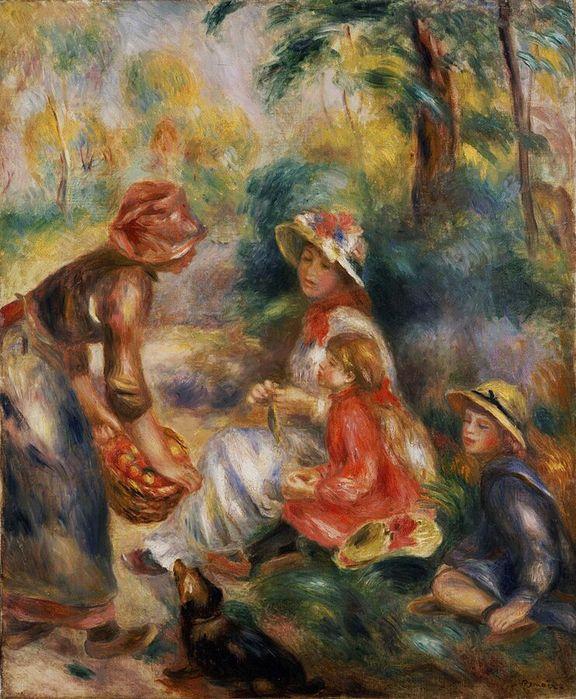 Пьер Огюст Ренуар 1841-1919 Продавщица яблок 1890.jpg (576x699, 95Kb)