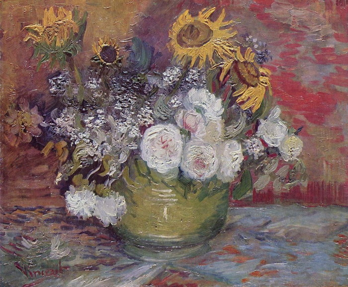 van_gogh_vincent Натюрморт с розами и подсолнухами 1886.jpg (700x578, 161Kb)