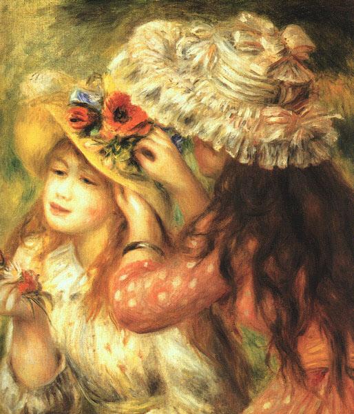 Girls Putting Flowers in their Hats, 1890 ренуар.jpg (514x600, 117Kb)