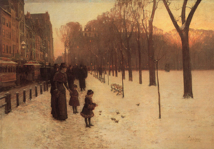 hassam Boston Common at Twilight, 1885-86.jpg (699x489, 85Kb)