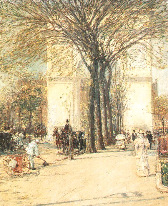 hassam Washington Arch in Spring, 1890.jpg (571x700, 123Kb)