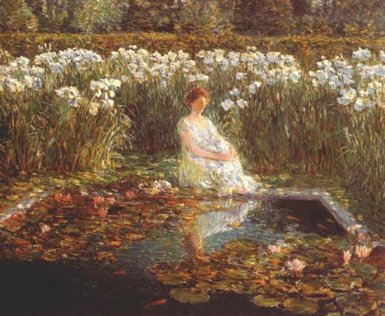 hassam 1859-1935 Lilies.jpg (550x451, 58Kb)