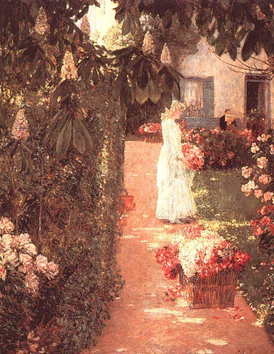 hassam Gathering Flowers in a French Garden, 1888.jpg (541x700, 121Kb)