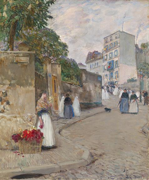 Childe Hassam 1859-1935 Rue Montmartre Paris 1888.jpg (476x576, 378Kb)