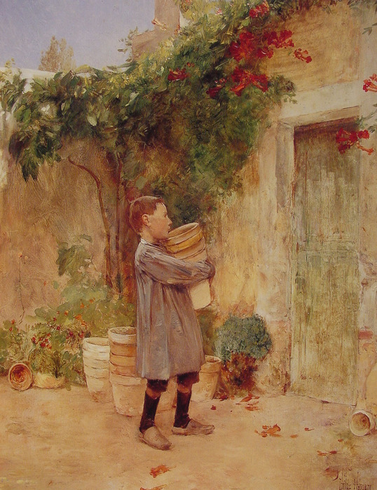 Boy_with_Flower_Pots 1888  Хэссэм.jpg (538x699, 183Kb)