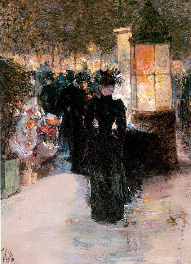 Чилд Хассам Paris Nocturne 1889.jpg (616x850, 175Kb)