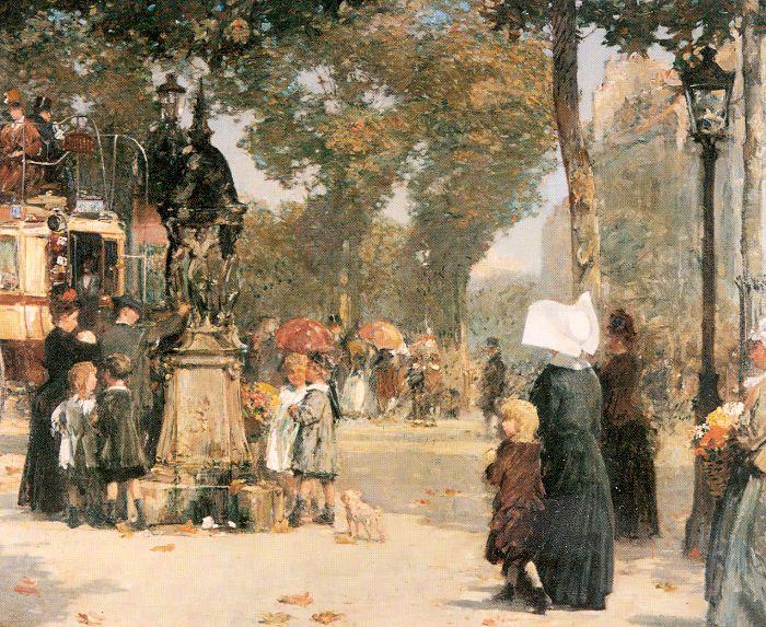 hassam Paris Street Scene 1887.jpg (700x573, 136Kb)