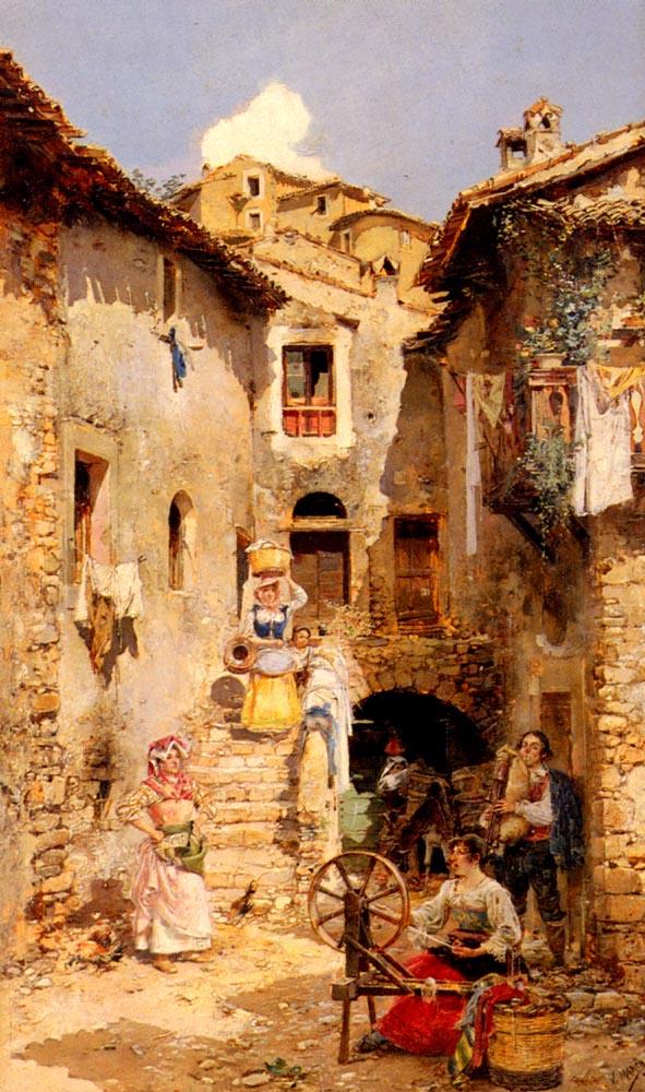 Вицент Марк Марко 1859-1914 Римский двор летом.jpg (591x1000, 158Kb)