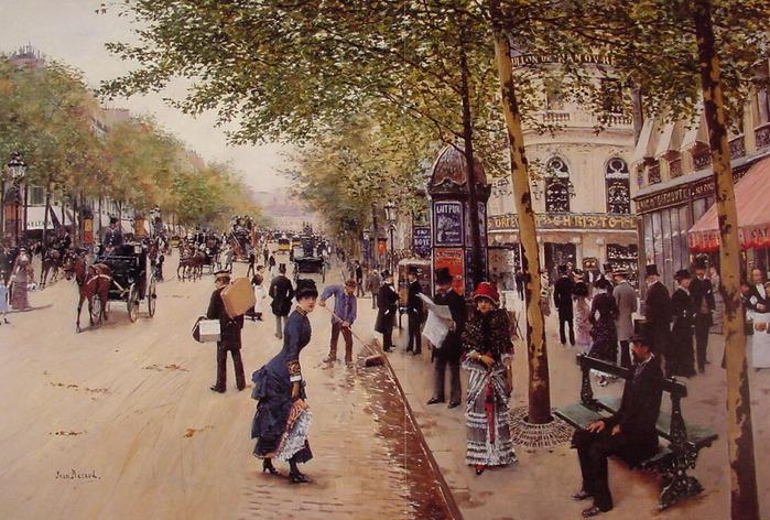 Boulevard_des_capucines Jean Beraud 1849-1936.jpg (699x472, 191Kb)