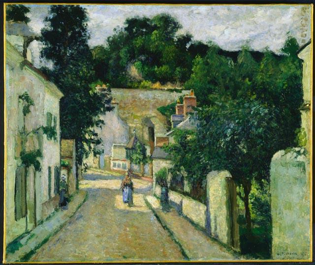 pissarro Rue de l'Hermitage, in Pontoise     (1875.jpg (640x539, 96Kb)