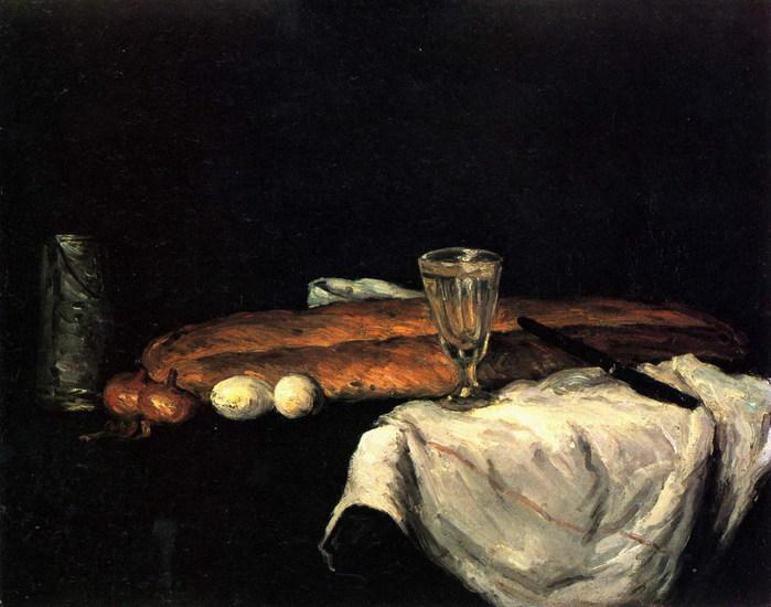 Натюрморт с хлебом и яйцами  1865 сезанн.jpg (699x550, 89Kb)