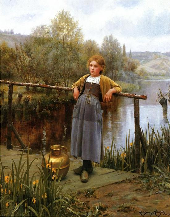 Knight_Daniel_Ridgway_Young_Girl_by_a_Stream.jpg (550x699, 73Kb)