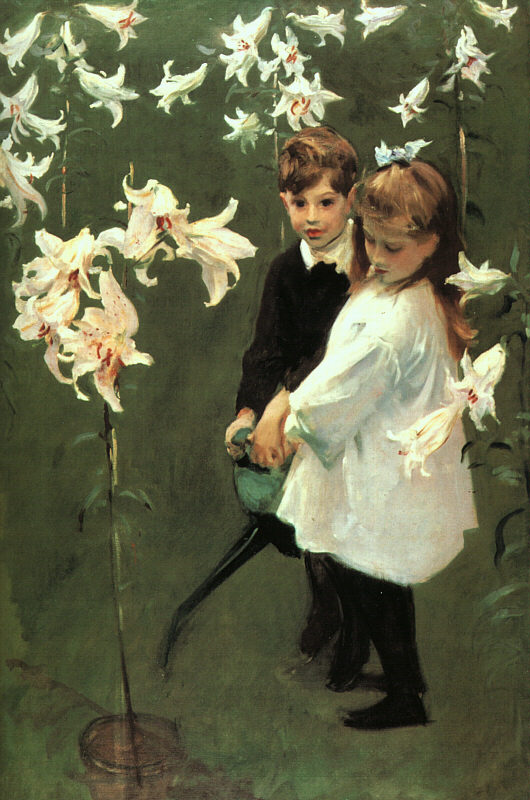 sargent Garden Study of the Vickers Children, 1884.jpg (530x800, 105Kb)