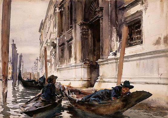 Gondoliers' Siesta 1905 John Singer Sargent.jpg (555x389, 56Kb)