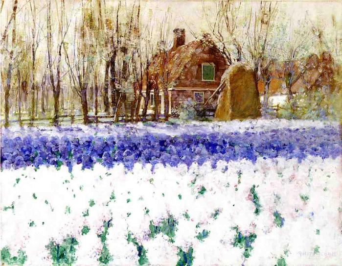 Cottage with Hyacinths - George Hitchcock.jpg (699x543, 92Kb)
