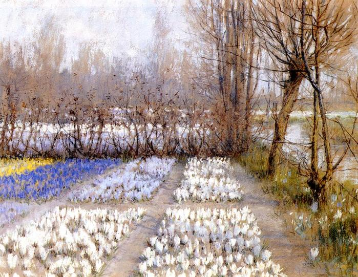 Hitchcock George 1850-1913 Spring Crosuc Fields1889.jpg (699x541, 105Kb)