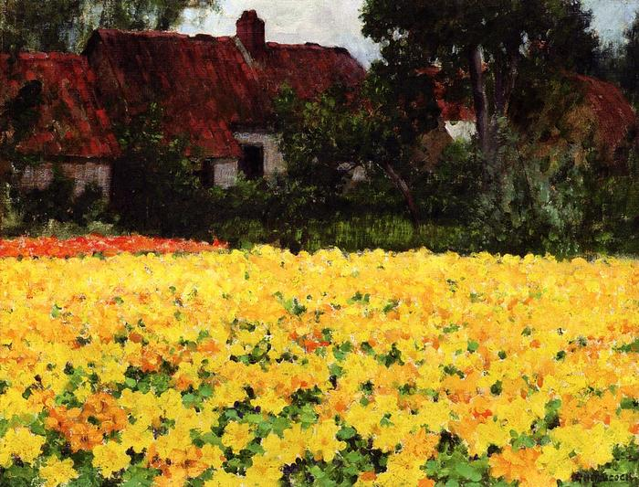 Yellow Nasturtiums - George Hitchcock.jpg (700x533, 97Kb)