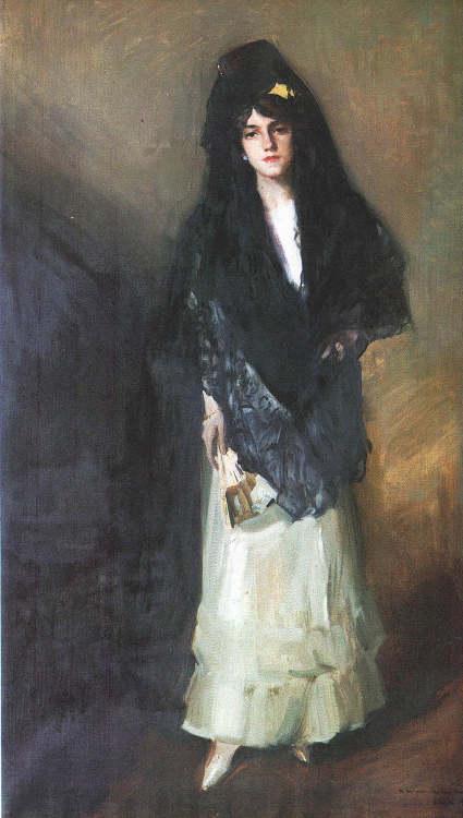 Joaquin Sorolla y Bastida 1863-1923María Con Mantilla.jpg (425x750, 37Kb)