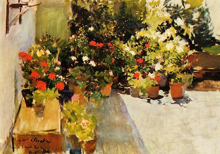Sorolla_y_Bastida_Joaquin_A_Rooftop_with_Flowers 1906.jpg (699x492, 86Kb)